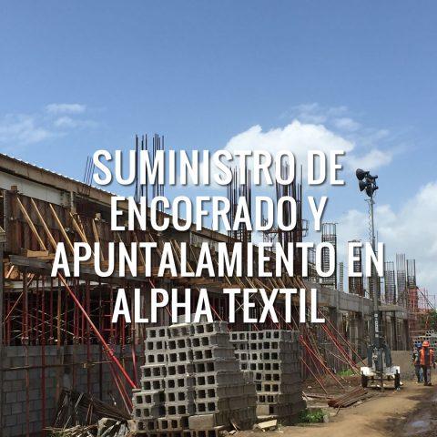 Suministro de Encofrado y Apuntalamiento en Alpha Textil